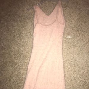 Urban Outfitter Faux Fur Pink Dress